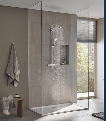 Prysznic GROHE - mniejsze zuzycze wody