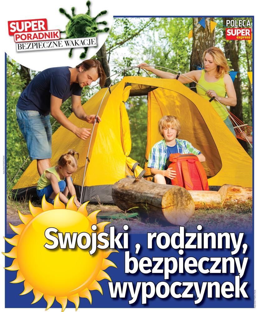 Super Poradnik Bezpieczne wakacje pod namiotem i na rowerze